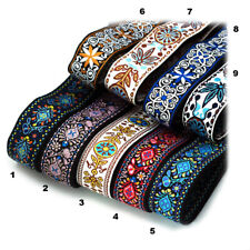 More details for guitar strap embroidery woven stunning designs vintage style