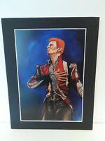"David Bowie original Art SA1 14"" x 11"" A4 Mounted Print"