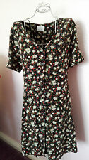 Pins and Needles Urban Outfitters womens vintage retro ditsy dress size 14/L