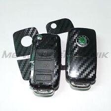 2S_Schlüssel-Dekor Aufkl. Skoda Fabia Oktavia Superb RS schwarz carbon glänzend