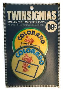 "1970'S COLORADO USA SOUVENIR 3"" PATCH WITH DECAL TWINSIGNIAS IN ORIGINAL PACK 1"