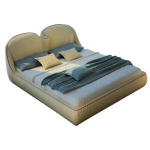 Diseño Camas Cuero Doble Lujo Compromiso Moderno Hotel Estante Dormir Habitación