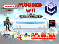 Modded Nintendo Wii Console & 32gb SD 19 Gamecube & 4500 Retro games SNES, NES