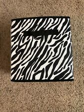 3 Gently Used Cube Organizers; Foldable, Zebra Print