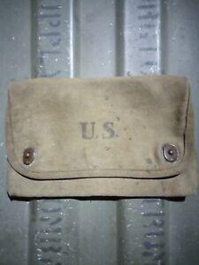 WWI WW1 PRE WWII WW2 1918 SQUAD LEADER DOCUMENT MAP CASE BAG POUCH