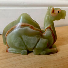 More details for vintage hand carved polished green onyx single hump camel 6 inches long