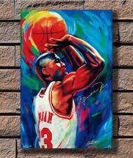 H924 Michael Jordan Free Throw Poster Fabric 8x12 20x30 24x36