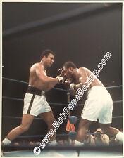 Very Rare Original Muhammad Ali vs Joe Frazier II Glossy 8 x 10 Color Photograph