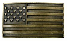 FL103-50MM - Men's Vintage American Steampunk Patriot Flag Buckle fits 1.5