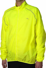 More Mile Mens Running Jacket Yellow Hi Viz Lightweight Wind & Rain Protection