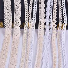 5Yard Diy Trim Cotton Crocheted Lace Fabric Ribbon Sewing Handmade Craft GiftFeh