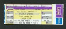 2000 Britney Spears Full concert ticket Oops! I Did It Again Tour Tampa FL Crazy