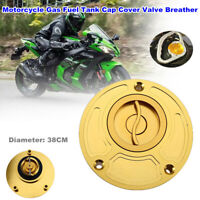 CNC Motorcycle Gas Fuel Tank Cap Cover Valve Breather Dirt Bikes ATV 38CM Dia.
