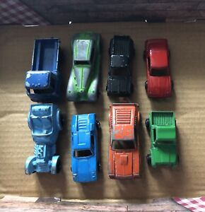Lot Of 8 Vintage Tootsietoy Metal Cars Made In USA