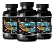 Chia Seeds Oil 1000mg Omega 3-6-9 High Potency Gluten-Free 3 Bottle 180 Capsules