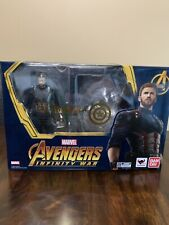 S.H. Figuarts Infinity War Captain America W/ Custom Wakandan Shields