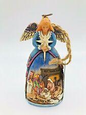 2006 Jim Shore Heartwood Creek Nativity Angel Ornament Blond Hair 4.5 tall