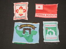 Tonga 4 diff Boy Scout Patches     fx