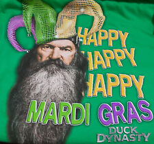 T Shirt Happy Happy Happy Mardi Gras Duck Dynasty  New 2 X Large March 5, 2019