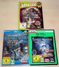 3 Clyde PC Games Collection Mirror Mysteries Haunted Manor Midnight POE
