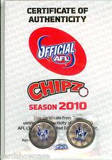 2010 Topps AFL Chipz ULTRA RARE AFL Club Logo Chipz North Melbourne