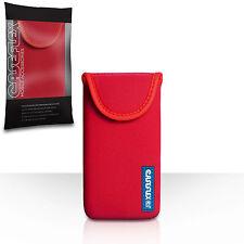 Caseflex Accesorios Para El Apple Iphone 5c Rojo Neopreno Bolsa Funda Reino Unido