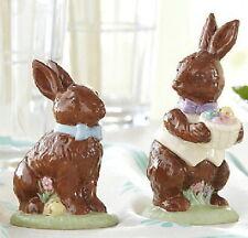 Lenox Easter Chocolate Easter Bunny Salt & Pepper Set - new