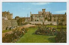 KING GEORGE VI PLAYING FIELDS & TOWN HALL, LERWICK: Shetland postcard (C16383)