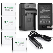 NB-6L NB-6LH Battery For Canon Powershot D10 S95 SD1300 SX500 IS SX260 + Charger