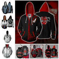 Anime RWBY Hoodie 3D Print Sweatshirt Zipper Hooded Men Women Casual Coat Jacket