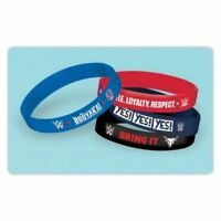 WWE Rubber Bracelet Wristband 4 pk Birthday Party Favours