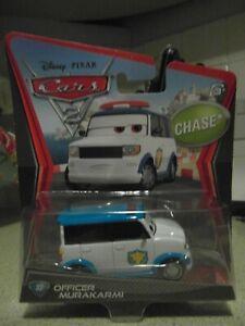 Disney Pixar Cars 2 Officer Murakarmi Chase Mattel 1.55 Scale BNIB