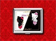 HELLO ANGEL DEVIL KITTY METAL WALLET CARD CIGARETTE ID IPOD CASE