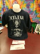 Large Men/homme Bon Jovi Tshirt Blue One Wild Night Tour Used