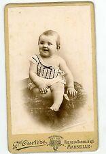 PHOTO CDV Marseille Ouvière un bébé joyeux mode fashion 1900