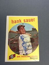 Hank Sauer Signed 1959 Topps card