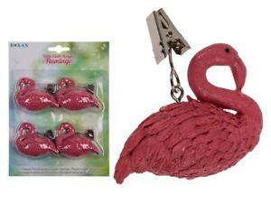 Table Cloth Weights Flamingo Set of 4 Table Garden Clips Outdoor Table Polyresin