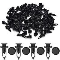 100x 9mm Car Door Trim Fender Clips Black Plastic Rivets Fastener for Toyota FO