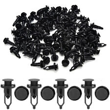 100x 9mm Car Door Trim Fender Clips Black Plastic Rivets Fastener for Toyota LD