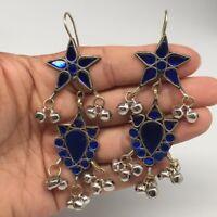 Kuchi Earring Afghan Tribal Fashion Blue Glass Jingle Bells Star Earring KE209