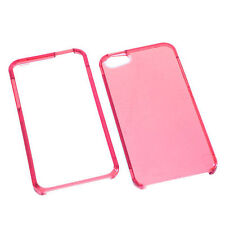 For Apple iPhone 5 5S SE HARD Protector Case Snap On Phone Cover Clear Pink