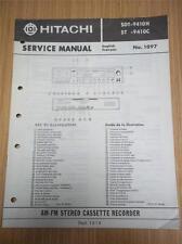 Hitachi Service Manual~SDT-9410H ST-9410C Stereo Cassette Recorder~Original