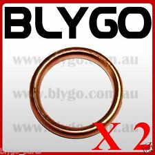 2X 32mm Copper Exhaust Pipe Gasket 110cc 125cc PIT PRO Quad Dirt Bike ATV Buggy