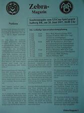 Programm UI Cup 1997 MSV Duisburg - Aalborg BK
