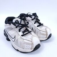 Nike Shox Black White Toddler Sneakers Size 5C Lace Up Running Shoes 397202-101