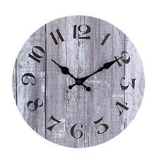 Silent Non-Ticking Wooden Decorative Round Wall Clock Quality Quartz Battery