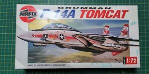 AIRFIX 1:72 5013 F-14A TOMCAT vintage model kit started project top gun