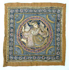"Vintage Burmese Kalaga Embroidered Beaded Prince Tapestry  - 12"" x 12"""