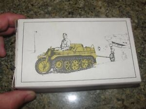 RARE vintage KETTENKRAD me262 towbar set KNIGHTS CROSS prod WWII 1/48 scale mode