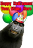 Ape Monkey nnc3 Happy Retirement Party Hat Card Personalised Greetings